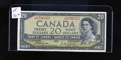 1954 Bank of Canada $20 Devil's Face Coyne Towers VF or better BL4102