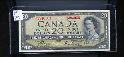 1954 Bank of Canada $20 Devil's Face Coyne Towers VF or better BL4103