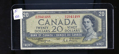 1954 Bank of Canada $20 Devil's Face Coyne Towers F or better BL4104