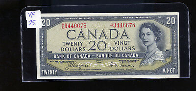 1954 Bank of Canada $20 Devil's Face Coyne Towers VF or better BL4108
