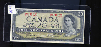 1954 Bank of Canada $20 Devil's Face Coyne Towers VF or better BL4110