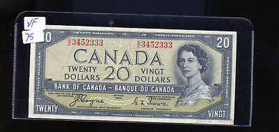 1954 Bank of Canada $20 Devil's Face Coyne Towers VF or better BL4111