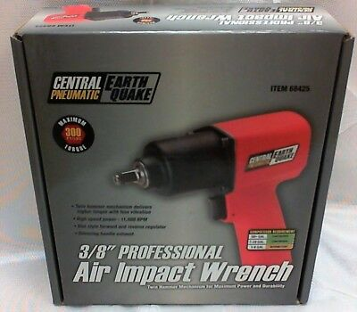"""NEW Central Pneumatic Earthquake 3/8"""" Professional Air Impact Wrench - 68425"""