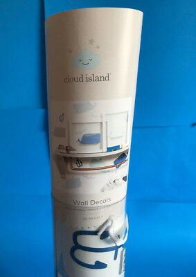 Cloud Island Nautical Wall Decals Blue/Gray - Pack of 30