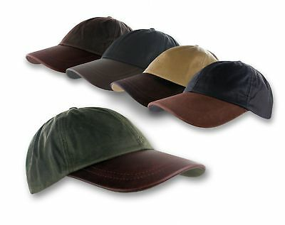 8adb244b3b7 Waxed Cotton Ball Cap Oil Cloth Leather Baseball Hat Rain Repellent  Waterproof
