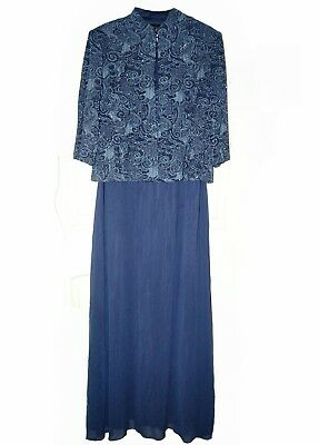 ALEX EVENINGS 16 LONG FORMAL DRESS LINED -FAST USA SHIPPING! Mother of Bride #29