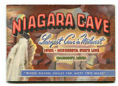 """niagara  Cave "": Booklet:  Harmony, Minnesota (Curteich  Chicago)    (Pc-10)"