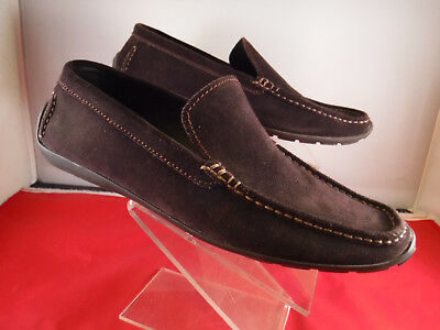 c499d3b06e7e8 PM2 Hathaway 176157 Sz 10 Brown Chocolate Suede Leather Driving Shoes  Loafers