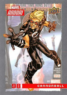 CANNONBALL / 2016 MARVEL ANNUAL (Upper Deck 2017) BASE Trading Card #98