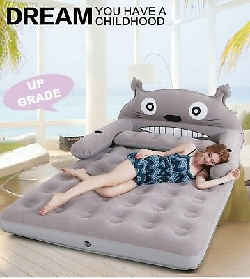 My Neighbor Totoro Inflatable Double Sofa Air Cushion Bed Couch Blow Up Mattress