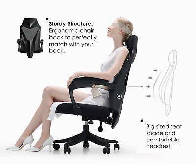 New Executive Gaming Office Chair Racing Computer Ergonomic Mesh Seat Work Race