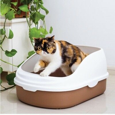 New Cat Pet Toilet Litter Box Tray Portable Medium or Large