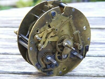 An Antique French 2 Train Clock Movement, Striking, Platform Escapement, Working