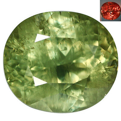 30.52Ct Shimmering Oval Cut 18 x 16 mm AAA Color Change Turkish Diaspore