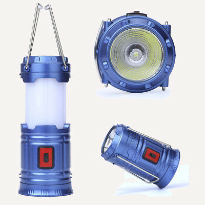 Portable COB LED Super Bright Camping Lantern Collapsible Outdoor Lamp Light
