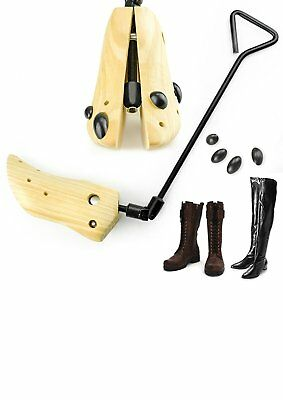Adjustable Shoes Stretcher Men Women Shoe Boots Tree Shaper Pine Wooden EU39-42