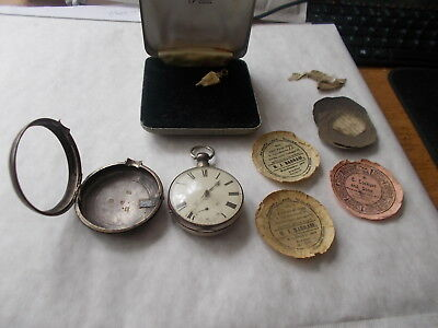 Good Pair Cased Silver Pocket Watch By William Richardson Of Cumbria.1831.works