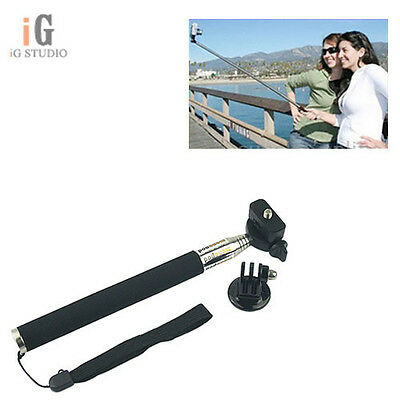 "Selfie Pole Extendable 43"" Telescopic Monopod Stick for GoPro Hero 3+ 3 2 Camera"