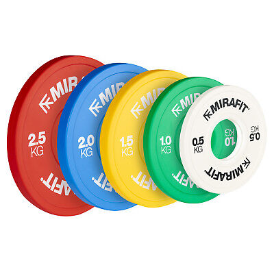 "Mirafit 2"" Olympic Fractional IWF Colour Weight Change Plates Lifting Discs Disc"