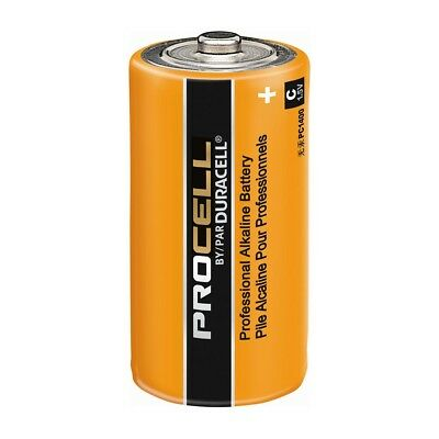 CASE 24 NEW DURACELL PROCELL SIZE C Alkaline Batteries