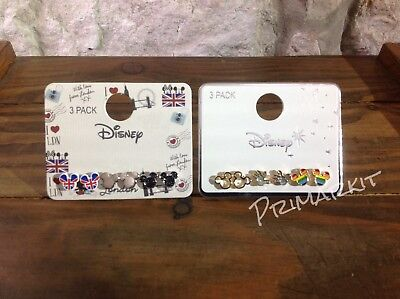 Disney Mickey  Mouse London,rainbow Pride 3 Pairs Earrings Set Primark