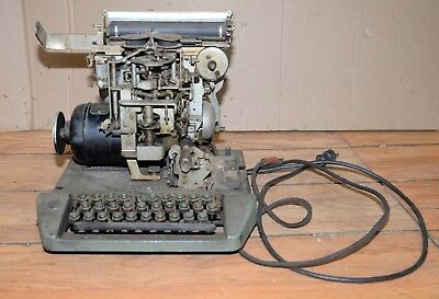 Rare Teletype Corp telegraph machine Holtzer Cabot motor collectible industrial