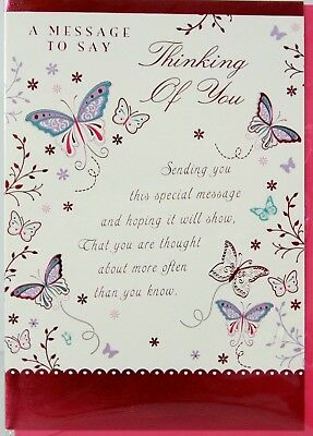 Thinking of you sentimental thoughts love sending a hug hugs thinking of you card message to say butterflies lovely verse t19 m4hsunfo