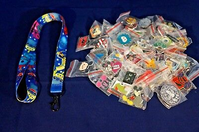 Disney World Pin Trading Lot Lanyard Starter Lilo & Stitch and Friends & 25 Pins