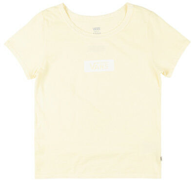 6ec858dc3c VANS OFF THE Wall Skimmer Box T-Shirt Womens Skate Top Light Yellow ...