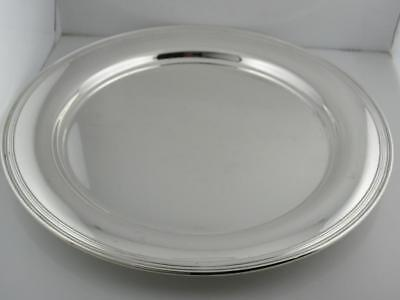 """Sterling TIFFANY & CO 11"""" Plate / Charger / Tray no.5765 Plain no mono Mint Cond"""