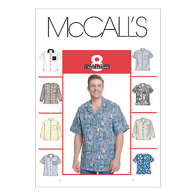 McCall's 2149 Sewing Pattern to MAKE Men's Shirt Wide Range of Sizes Sm-XXXL