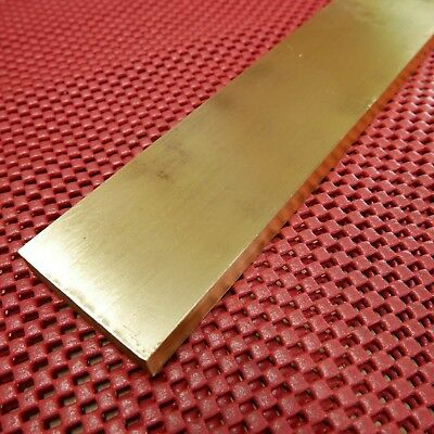 SOLID BRASS STOCK brass flat bar 9 x 2 x 1/2 in. - machinist toolmakers tools