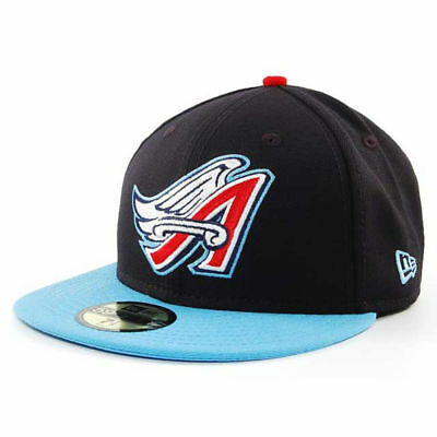 b5ecd8ceed8 Los Angeles Angels MLB Cooperstown Cap Hat Lid New Era 59FIFTY Wings Logo  Fitted