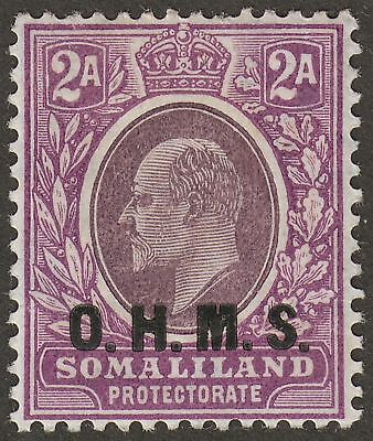 Somaliland Protectorate 1904 KEVII OHMS Service Opt 2a Mint SG O12 cat £300