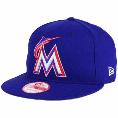 f0f5df99dcd806 Miami Marlins New Era MLB PR Custom Colors 9FIFTY Snapback FlatBill Brim Cap  Hat