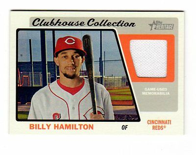 Billy Hamilton Mlb 2015 Topps Heritage Clubhouse Collection Relics (Reds)