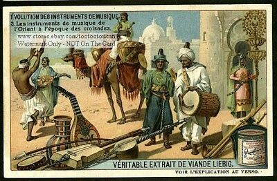 Crusade Era Arabian Musical Instruments 1910 Trade Ad Card