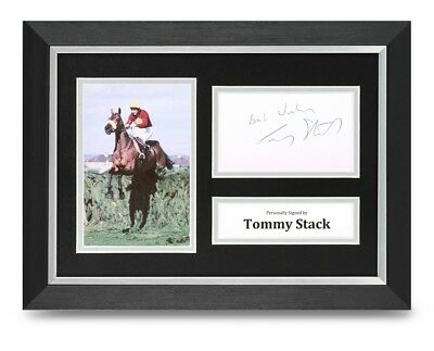 Tommy Stack Signed A4 Framed Photo Display Red Rum Autograph Memorabilia + COA