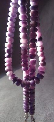 dkd/146cts NATURAL Orchid Pink Sugilite Beads/ Necklace