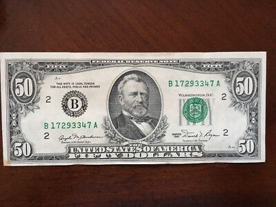 Vintage / Authentic Series 1981 Fifty Dollar Bill | $50