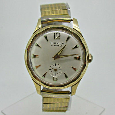 Vintage Bulova 10BC 17J Manual Wind Gold Tone and Stainless Steel Watch