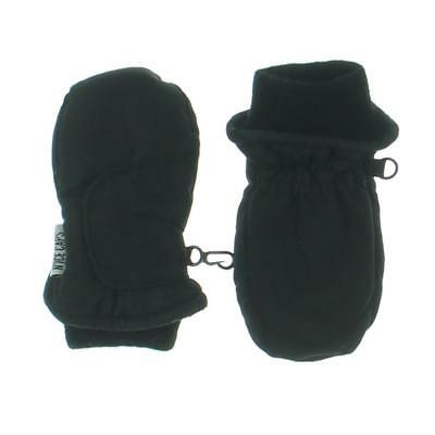 Thinsulate 7570 Boys Black Ribbed Trim Winter Mittens O/S BHFO