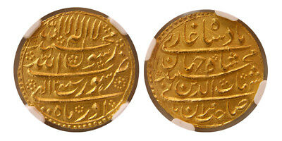PCW-I1569-INDIA, Mughal Empire. Shah Jahan. 1628-1658. Gold Mohur. NGC MS 64.