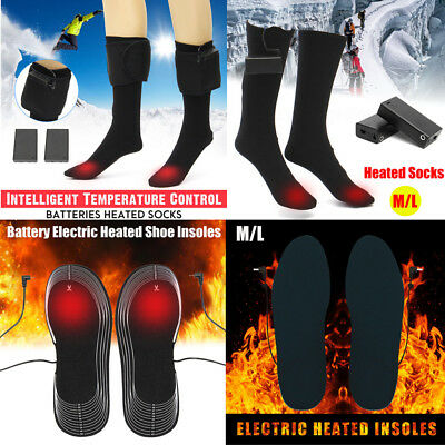 AU Winter Battery Heated Socks Insoles Warmer Electric Heater Hiking Skiing Boot