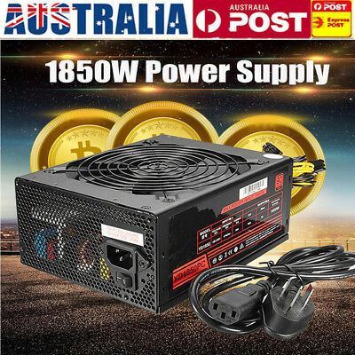 AU 1850W Mining Power Supply For Antminer S9/S7/A7/A6/L3/R4 Bitcoin Miner Gold