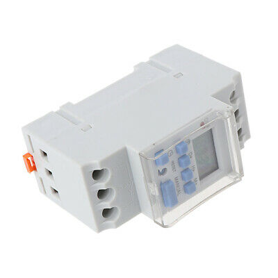 AC 220V 16A Programmable Digital Timer Switching Control Relay Din Rail Mount