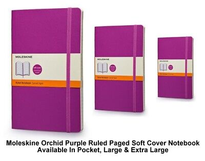 Moleskine Purple Ruled Paged Notebook Soft Cover (Pocket/Large/Extra Large)
