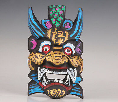 Wood Mask Old Hand Painting Chinese Drama Culture Collection