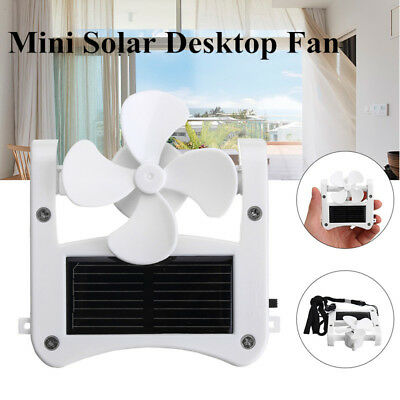 USB Solar Cap Clip Fan Mini Desktop Fan Cooling Hanging Fan Travel Camping