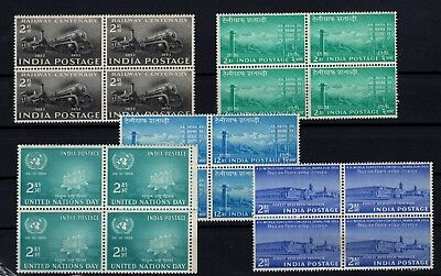 P71831/ India / Blocks Of 4 / Sg # 343 – 346 / 347 – 352 / 353 Mnh Complete 93 €
